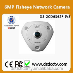 Hikvision Camera DS-2CD6362F-IVS 6MP 360 Degree Fisheye Camera Built-in microphone & speaker
