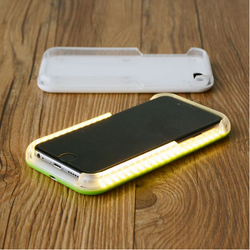 2016 the latest products LED flashing light up cell phone cases for iphone 6/6 plus/6 s plus case