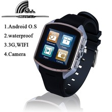 mobile Smart Watch Phone Waterproof Android 4.4 GPS Wifi MTK6572 Dual Core Bluetooth cell phones 3G