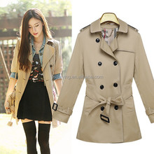New Fashion Style Big double-breasted trench coats