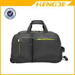 famous brand collapsible travel rolling trolley duffel bag