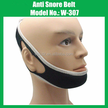 Black Color Stop Snoring Chin Support Belt Anti Apnea Jaw Solution for Sleep Aid