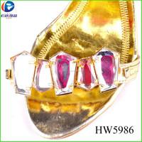 HW5986 fashion yiwu renqing shoes jewelry ladies fancy footwear accessories