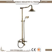 Archaise Gold Rose Gold Brass Bronze Shower Set Vintage Style Antique Thermostatic Rain Shower Set Bath Water Faucet Tap Mixer