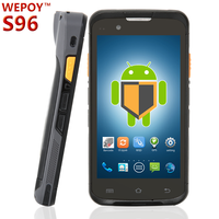 Rugged touch screen handheld pda barcode scanner with android os
