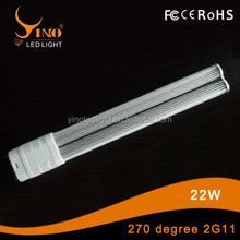 Plug light 2G11 LED lamp 180/270/360 degree 22w 2G11 pl tube light