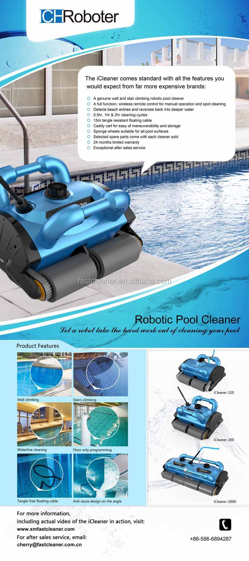 2015 Newest Coming Swimming Pool Robot Cleaner Swimming Pool Automatic Cleaning Equipment 200