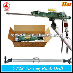 rock drill mounted on excavator pneumatic/jackleg drills YT28 used for mining