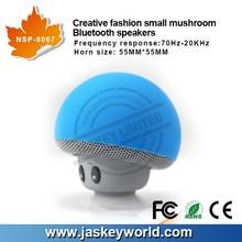 Mushroom Mini Bluetooth Speaker Wireless Hands free Silicone Suction Wireless Speaker