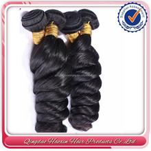 Full cuticle natural color virgin brazilian loose deep wave hair weave