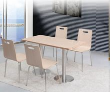 Chinese Restaurant Dining Furniture Square Table And Stacking Chair For Two Person (FOH-BC09)