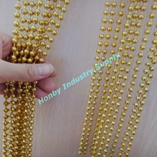 Gorgeous gold Beaded metal sliding curtains
