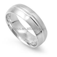 Classic Matte Ring Jewelry, Best Selling Fine Silver High Polish Ring