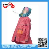 Hot Sell Heavy Duty Waterproof Long Fabric Ladies Raincoat