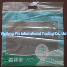 hot Sale customer packaging type die cut handle plastic bags