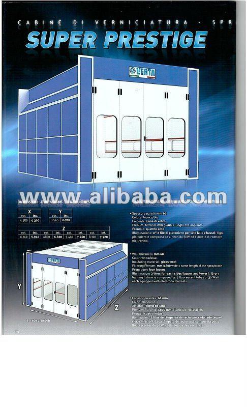 Nova VERTA cabinas de pulverización