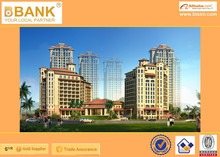 (BK0101-0005)Professional 3D Design of Outside Architect/3D Architecture Design/Modern Style Hotel Rendering