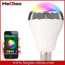 Newest 2-in-1 Design LED Music Light Bulb Wireless EDR Smart Lamp E27 Playbulb Bluetooth 4.0 Speaker LED Bulb for Smartphones