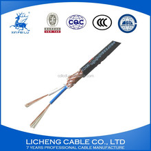 hot sale product 2*0.5mm2 RVVP sheilded cable copper wire pvc insulated and sheathed