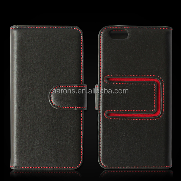 For iPhone 6 genuine leather case new arrival with stand function, for iPhone 6 wallet cases