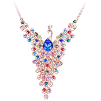 High Quality China Jewelry Wholesale White Gold Plated Chain Necklace Crystal Necklace