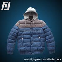 Outdoor Sport Ski Mens Waterproof Duck Down Jacket Coat Hooded Outwear Splice