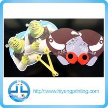 Nice cartoon promotional PP mini plastic hand fan