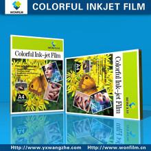 Tamaño A4 de inyección de tinta de colores de cine para proyector