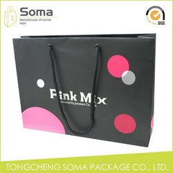 Newest promotional wholesale advertising paper gift bag