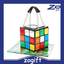 ZOGIFT Lady Girlish Magic Cube Bag/Tote/Handbag Women's Hot Cute Magic Cube Bag Purse Korean Fashion handbag