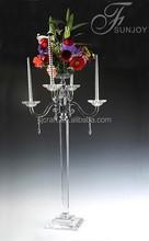 crystal candelabra wedding flower stand centerpieces SJ-ZT230