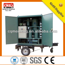 China Double Stage High Efficiency Used Vacuum Insulating Oil Recycling Plant(ZLA Series)/used lubricants oil purifier
