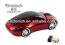 China Supplier 2014 Optical usb Porsche Wireless Car Mouse