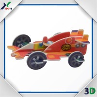 Animal Design 3D Buildable Puzzle Cards/3D Puzzle Card Model Toy,Racing Card,DIY Card