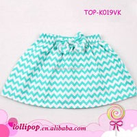 2015 New turquoise chevron bowknot beauty young girls in short skirts