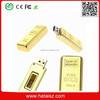 Newest design golden usb flash drive pen drive 8GB 16GB Gold Bar USB 2.0 Flash memory pendrive Stick disk