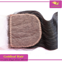 Can be part anywhere closure Large stock human hair silk base closure wholesale
