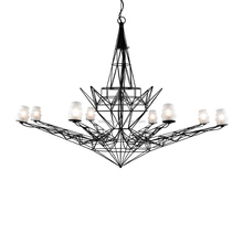 Decorative Unique Chandelier Iron Wire Eiffel Tower Shape Chandelier Weight Pendant Light