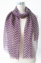 Fashionable multicolor cheap wholesale chevron scarf with fringe SL20