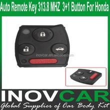 2008-2012 Auto Remote Key 3+1 Button 313.8 MHZ For Honda Car Remote Key