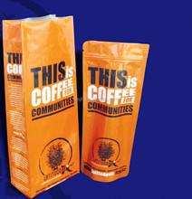 aluminum laminated plastic bag for coffee packing four sealing bag