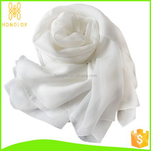 In Stock Easy Mach Fashion Wholesale Silk Scarf White
