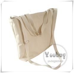 Custom Print Eco Cotton Canvas Bag With Shoulder Strap