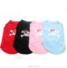 Pink/Blue/Black/Red Dog Shirt Dress bone design,pet Sweater Clothes