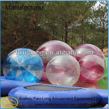 China cheap durable inflatable water sphere/aqua running balls/water bubble ball