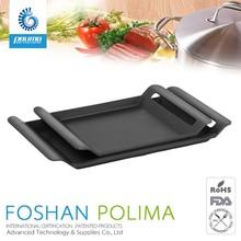 Korean bbq grill plate,cast iron bbq/gas/ charcoal aluminium grill pan