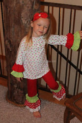 Latest design ruffle shorts girls outfits polkadot kid wear baby clothing ruffle pants cheap china wholesale clothing
