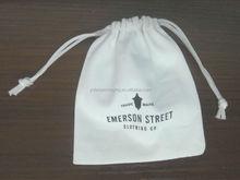 Small Cotton Drawstring bags, Muslin Bag with Printing