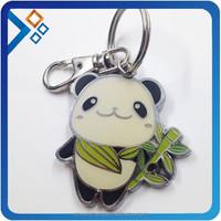 metal panda keychain with custom logo