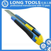 new design Cheapest price Plastic grip Utility knife / Box cutter / Cutter knife